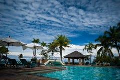 Pływacki basen z zielonym łóżkiem Zdjęcie Royalty Free