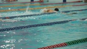 Pływacki ciężki treningu ruch zwycięstwo zbiory