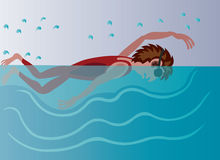 Pływackie lekcje 3 royalty ilustracja