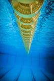 Pływackiego basenu łamania pasa ruchu Spławowa linia Zdjęcia Royalty Free