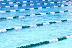 Pływackiego basenu pasy ruchu Zdjęcie Stock