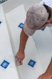 Pływackiego basenu schodków naprawa Zdjęcie Stock