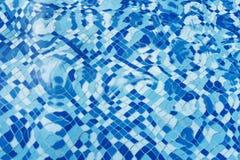 Pływackiego basenu woda textured tło Zdjęcie Stock