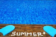 Pływackiego basenu woda z teksta latem robić bielu kamień Fotografia Royalty Free