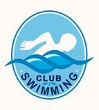 Pływaczki dopłynięcia klubu sportów loga ilustracja Zdjęcie Royalty Free