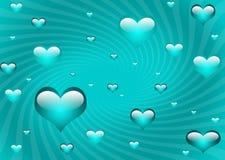 pływające serca Obraz Royalty Free