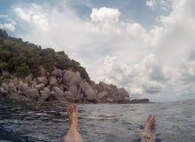 pływający morza Zdjęcia Royalty Free