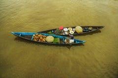 pływający targ Fotografia Royalty Free