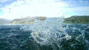Pływający w Orta jeziorze, Włochy zdjęcie wideo