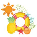 Pływakowy ratownik z słońca latem ilustracji