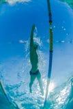 Pływania Męski Stażowy Podwodny Zdjęcia Royalty Free
