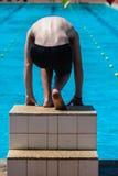 Pływanie Galowy Męski początek   Zdjęcie Stock