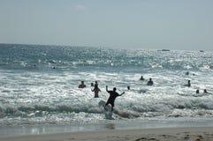 pływanie na plaży Fotografia Stock