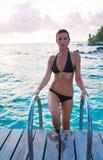 pływanie piękna kobieta Fotografia Stock