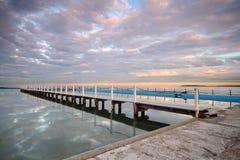 Pływowy basen przy wschodem słońca fotografia royalty free