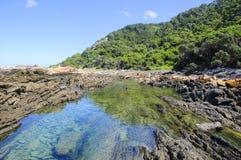 Pływowy basen wzdłuż Wydrowego Wycieczkuje śladu Fotografia Royalty Free