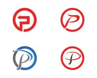 P在企业商标和标志模板上写字 库存图片