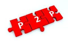 P2P łamigłówka Obraz Stock