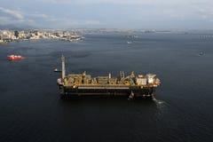 P67石油平台 免版税库存图片