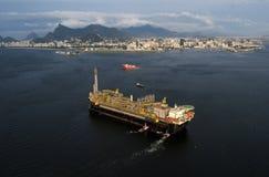 P67石油平台 图库摄影