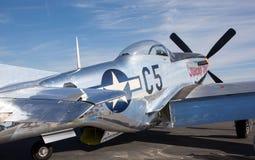 P-51野马战斗机 免版税库存照片