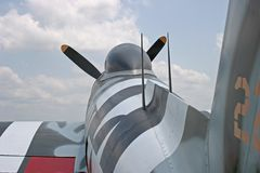 P-47 blikseminslagfuselage Stock Fotografie