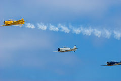 Texan t-6. Airshow demonstration Stock Photography