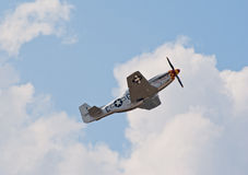 P-51 Mustang fighter royalty free stock images