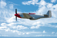 P-51 sull'azzurro Fotografia Stock