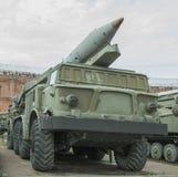 9P113- Abschussrampe mit einer Rakete komplexes 9K52 der Raketen 9M21 Lizenzfreies Stockbild