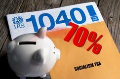 P?aci tw?j 70% Socjalistycznego podatek zdjęcie royalty free