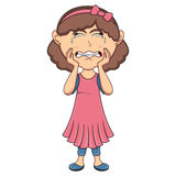Płacz dziewczyny kreskówka Obrazy Royalty Free
