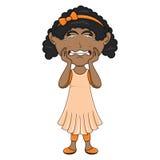 Płacz dziewczyny kreskówka Fotografia Royalty Free