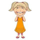 Płacz dziewczyny kreskówka Zdjęcia Stock