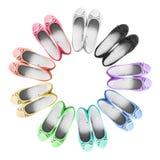 płascy buty Zdjęcie Stock