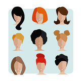 Płascy charaktery Set avatars Zdjęcia Royalty Free