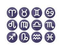 Płascy modni zodiaków symbole Zdjęcie Royalty Free