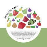 Płascy symbole owoc i warzywo Obraz Royalty Free