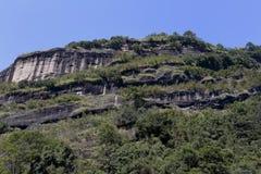 Płascy szczyty danxia landform, wuyi góra Obrazy Stock