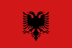 Płaska Albania flaga Obrazy Stock