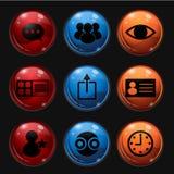 Płaska ikona na elemencie Ustawia 2 Zdjęcia Royalty Free