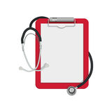 Płaska ikona stetoskop Obrazy Royalty Free