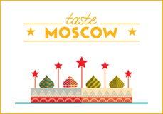 Płaska Moskwa ilustracja Obrazy Royalty Free