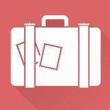 Płaska projekt walizka Obrazy Stock