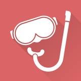 Płaska projekta pikowania maska Zdjęcie Royalty Free