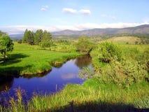 płaska rzeka Zdjęcia Royalty Free
