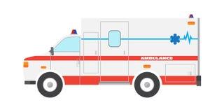 Płaski ambulansowy samochodowy przeciwawaryjny samochód Fotografia Stock