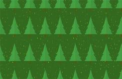 Płaski bezszwowy wzór z drzewami struktura abstrakcyjna Jedlinowy las Obraz Royalty Free