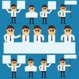 Płaski charakteru kierownik dla use w projekcie obrazy stock