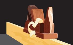 płaski drewna Fotografia Royalty Free